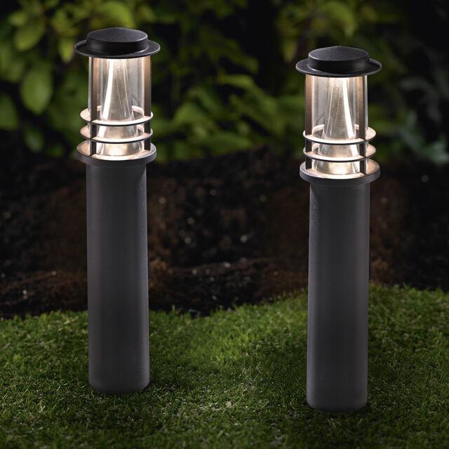 WOW LED Gartenleuchten 2er Gartenstrahler Gartenspot Pflanzstrahler schwarz GL13