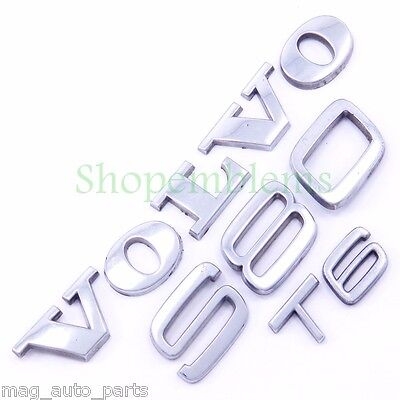 Volvo S80 T6 Trunk Emblems Nameplate Badge Letters Silver 99-03 00 01 02 OEM