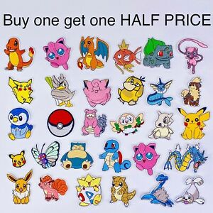 Pokemon Iron On Patch Embroidered IRON ON / Sew on Transfer Fancy Dress Clothing