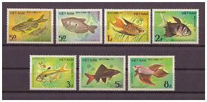 Vietnam-Poissons-Minr-1453-1459-1984-MNH