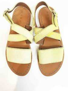 Designer BNWT MARNI Size 39 Leather Calf Hair Stunning Women's Sandals