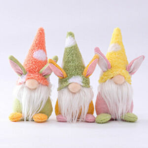 3PCS Easter Gnomes Plush Doll Gonk Dwarf Decoration Gifts Ornaments