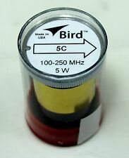 Bird 43 Wattmeter Element Slug 5C 100-250 MHz 5W New