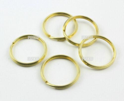 15 Pieces 30mm Solid Brass Split Key Ring Ridge