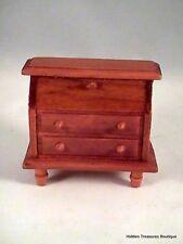 Miniature Dollhouse Furniture- Wooden Desk Walnut Finish