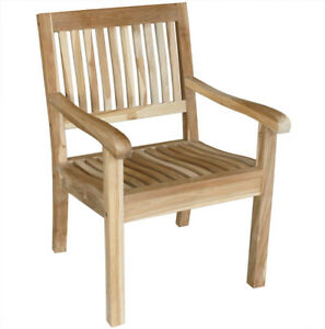 Gartensessel holz  KMH® Teak Gartenstühle Gartenstuhl Gartensessel Stuhl Stühle ...
