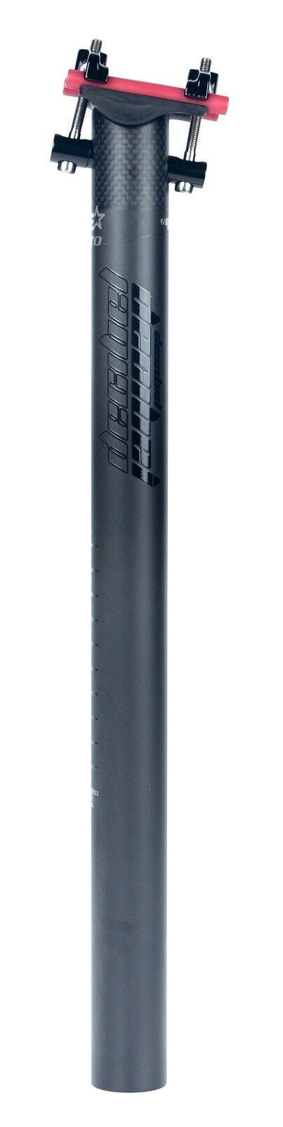Decibel alero Ultra Light Mtb Xc Road 31.6x400mm Tija De Sillín Negro Nuevo