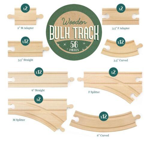 Conductor Carl 56-Piece Wooden Bulk Train Track Pack