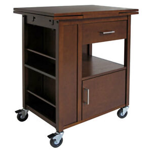 Bon Image Is Loading Winsome Wood Gregory Extension Kitchen Cart WIN 94643