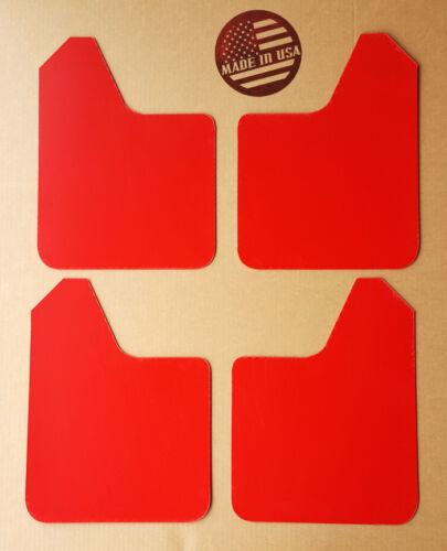 NO HARDWARE StreetRays Mud Flaps STARTER Set RED for 13-16 SUBARU XV CROSSTREK