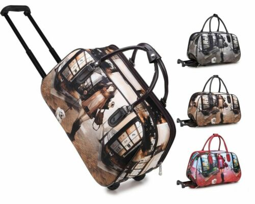 New UK Ladies Holdall Girl Dog Trolley Weekend Bag Hand Luggage Travel Handbag