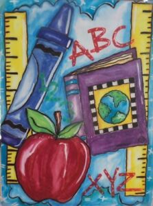 """School Rules Garden Flag by Toland, 12"""" x 14"""", Back to School"""