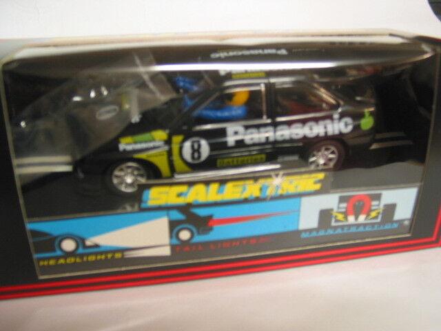 Scalextric da collezione C204 Escort Cosworth Panasonic NUOVO CON SCATOLA CRISP nero Box