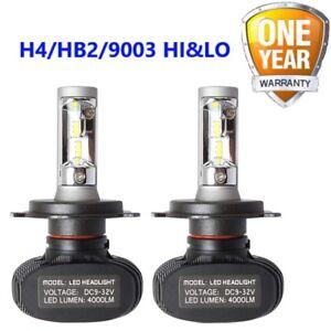 2pc Car Headlight Led Bulb 8000 Lumen S1 H4 Hi Lo White Light 6000k