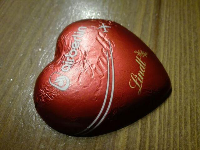 5 AIR BERLIN Schokoladen Herzen. Von LINDT, letzter Verkauf!