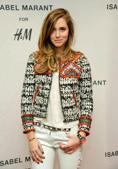 ISABEL MARANT pour H&M Embellished Embroidered Beaded Jacket Size 2 / 32 / XS