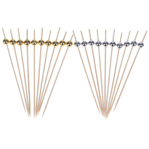 100pcs Disposable Bamboo Forks Fruit Sticks Cocktail Picks Party Tableware  xl