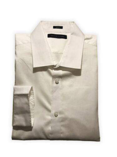 Chemise homme TOMMY HILFIGER Chemise Homme à Manches Longues Slim Fit Blanc Taille