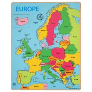 Bigjigs-Toys-di-legno-Geografia-Europa-incasso-Jigsaw-Puzzle-Educational