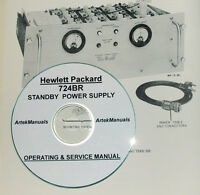 Hp Hewlett Packard 724br Standby Power Supply Operating & Service Manual
