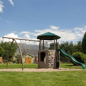 New Fun Kids Children Backyard Outdoors Lifetime Adventure Tower