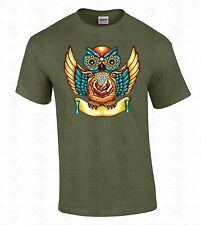 Sugar Skull Owl T-SHIRT Day Of Dead Dia De Los Muertos Death Colorful Shirt