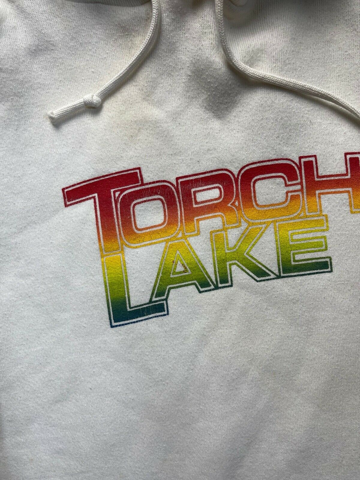 Vtg 70s 80s Torch Lake Hoodie Jerseys By Russell … - image 2