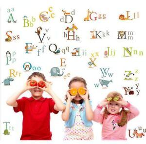 Wandtattoo-Lernhilfe-Sticker-Alphabet-Schule-Wandbild-Buchstaben-Kinderzimmer