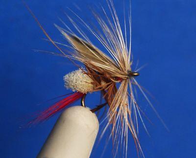 12 PCS Orange Mayfly Nypmh Trout Flies fly fishing #14 W// Free Box D513