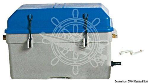 Osculati Watertight Ventilated Grey Blue Moplen 100 Ah Battery Box