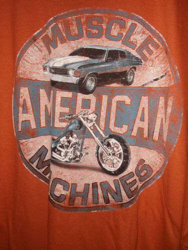 NEW 3XL AMERICAN MUSCLE MACHINE T SHIRT MUSCLE CAR /& MOTORCYCLE  HEAVY COTTON