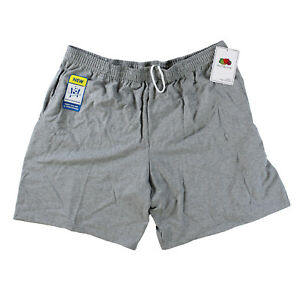 Fruit-of-the-Loom-Men-Jersey-Pocket-Shorts-Steel-Grey-Heather-Small-S