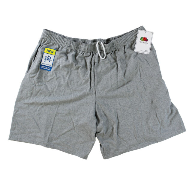 Fruit of the Loom Men Moisture Wick Jersey Pocket Shorts Steel Grey Heather XL