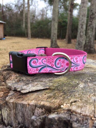 Pink Print Dog Collar FREE SHIPPING