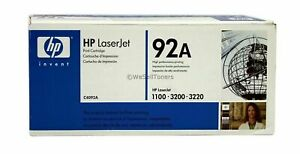NEW GENUINE HP 92A BLACK INK CARTRIDGE C4092A