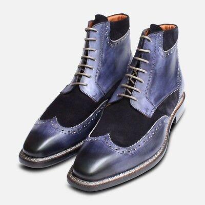 Exclusif Italien Urbain Randonneur En Bleu Marine With A Long Standing Reputation Men's Shoes Casual Shoes