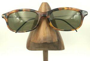 Vintage-Furore-Polaroid-6055B-Tortoise-Oval-Silver-Sunglasses-Frames-Italy