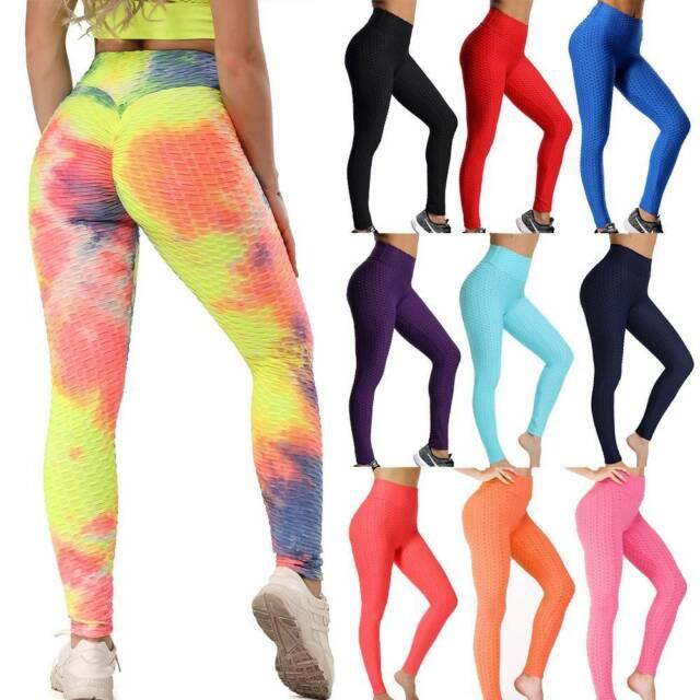 Women Scrunch Yoga Pants Anti-Cellulite Leggings Butt Lift Sports Gym Trousers