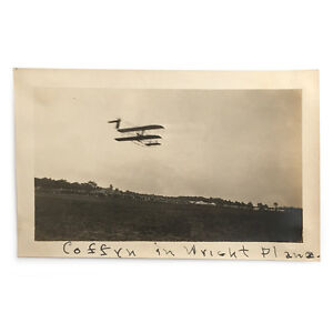 Original-Asbury-Park-Airshow-Photograph-Frank-Coffyn-Flying-Wright-Plane-C-1910