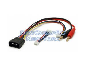 Bateria-Cargador-Cable-de-carga-Traxxas-ID-a-4-mm-3S-2S-Adaptador-de-platano-de-bala