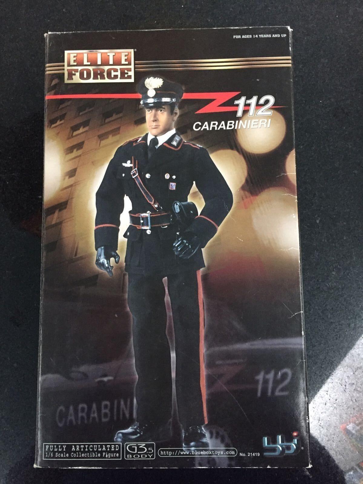 ACTION FIGURE ELITE FORCE 112 CARABINIERI DA COLLEZIONE SCALA 1 6 BBI 21419