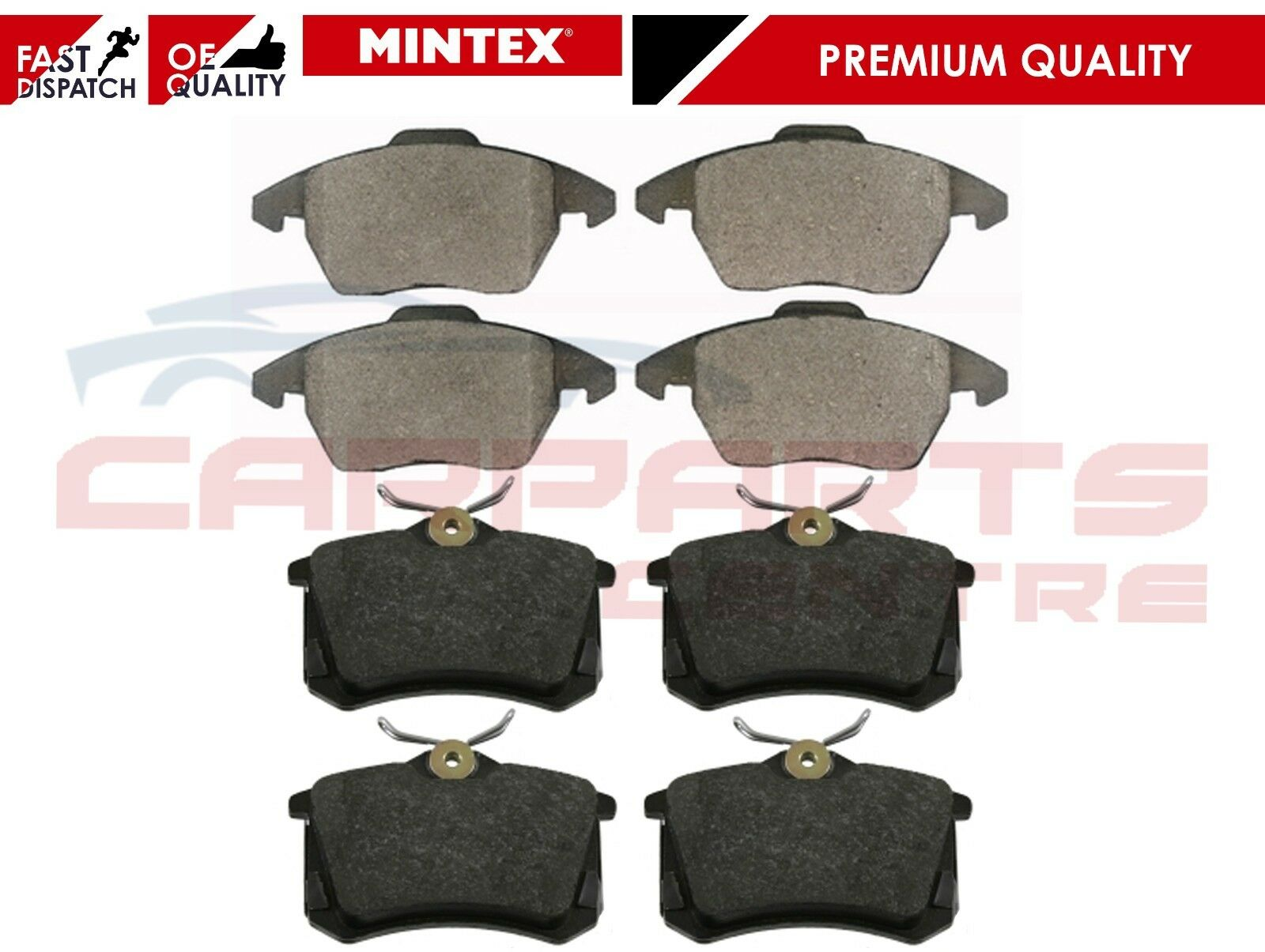 Audi A3 8L1 1.9 TDI Genuine Brembo Rear Brake Pads Set