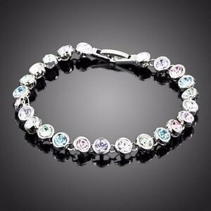 Image is loading Made-With-Sparkling-Swarovski-Element-Crystal-Round-Multi- 5f7e7886bd