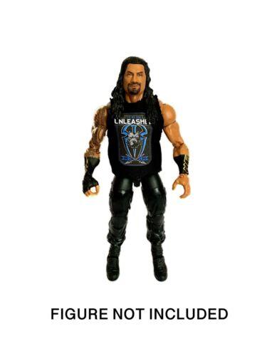 """WWE ROMANO Reigns /""""The Big Dog SCATENATO/"""" Maglietta Personalizzata per WWE Mattel figure."""