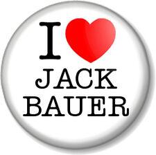 "I Love / Heart Jack Bauer 1"" 25mm Pin Button Badge 24 Counter Terrorist Unit CTU"