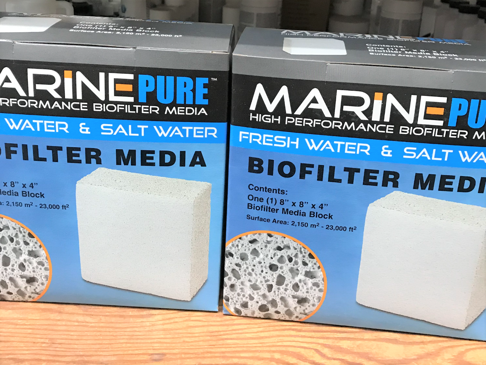 MARINEPURE BIOFILTER PLATE (8 X 8 X 4) - Lot of 2