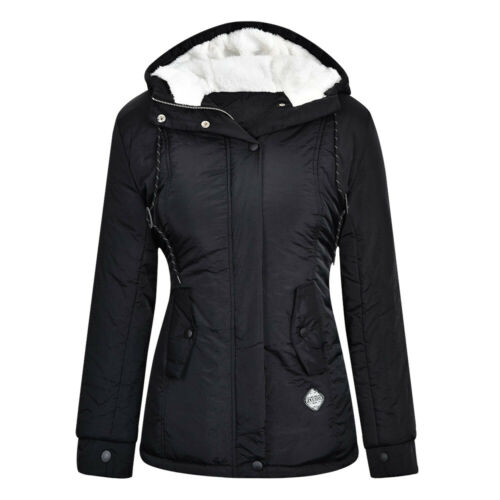 Womens Faux Fur Hooded Coat Parka Jacket Ladies Winter Warm Outwear Overcoat