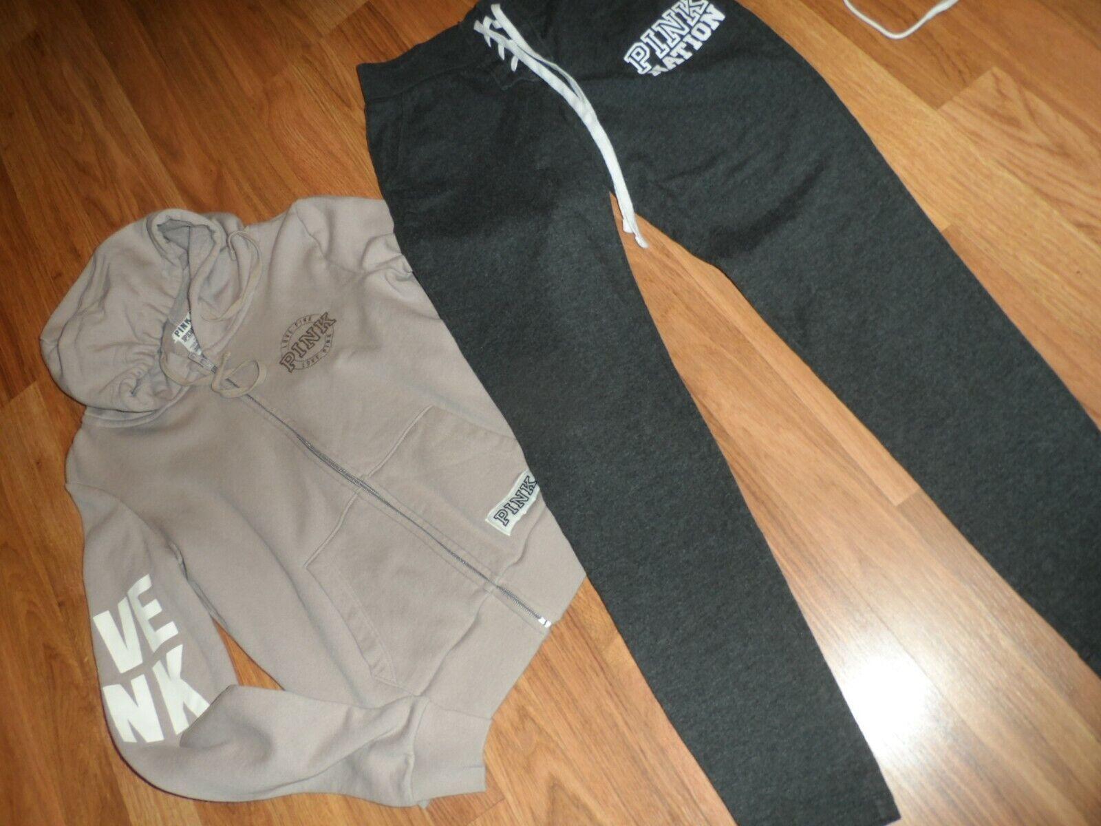 VS Victoria's secret PINK  XS jogger pant &  hoodie hooded sweatshirt