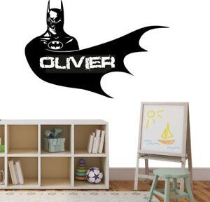 Batman-Wall-Stickers-Superhero-Personalised-Name-Comic-Bedroom-Art-Decals-Vinyl