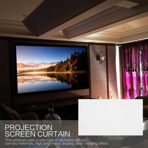"""40/""""//50/""""//60/""""//72/""""// Projector Projection Screen 16:9 Home Cinema Theater White VA"""